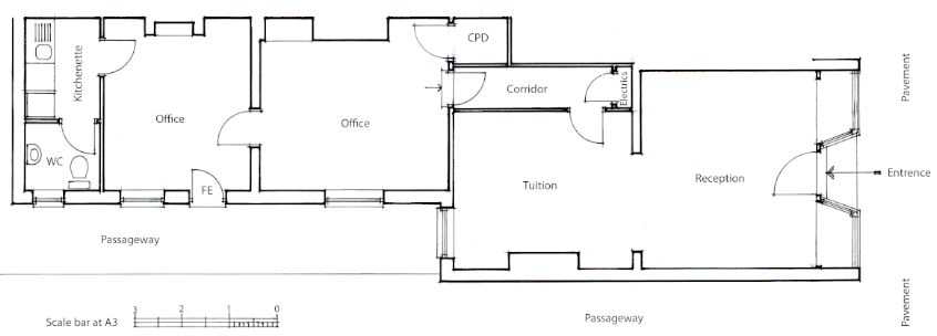 Floor Plan of Tuition Centre